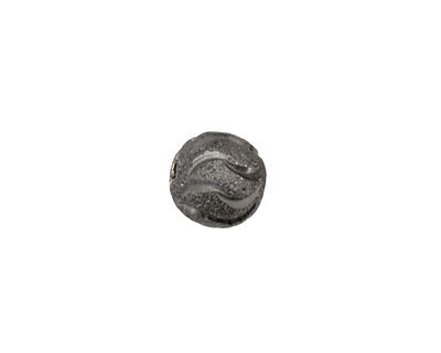 Gunmetal Wavy Round 10mm