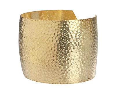 Brass Textured Cuff 62x44mm
