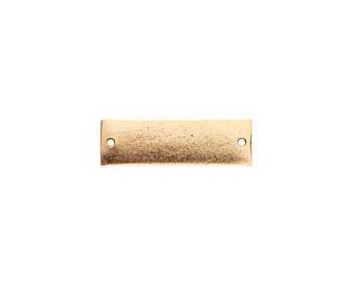 Nunn Design Antique Gold (plated) Flat Large Thin Tag Link 9x30mm
