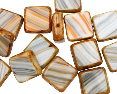 Czech Glass Oyster Square 10mm