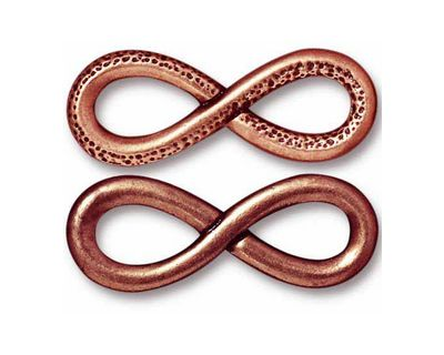 TierraCast Antique Copper (plated) Infinity Link 32x12mm