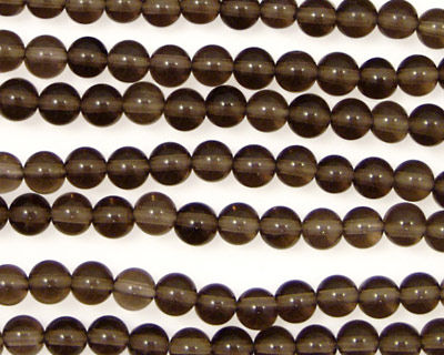 Smoky Quartz Round 4mm
