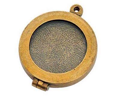 Nunn Design Antique Gold (plated) Small Plain Locket 30mm