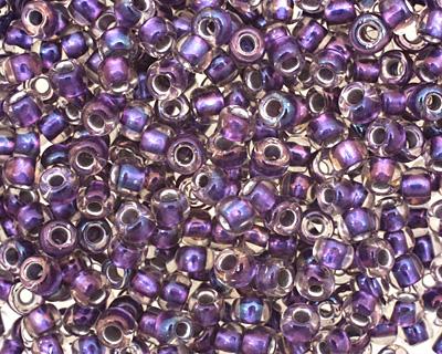 TOHO Rainbow Crystal (with Metallic Purple Lining) Round 6/0 Seed Bead