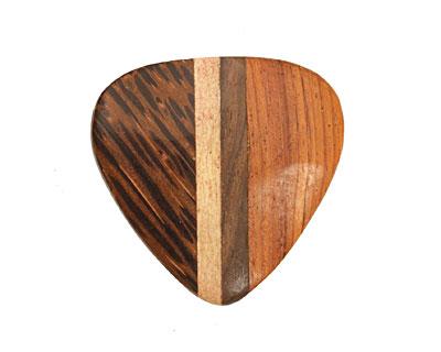 Wood Inlay Triangular Pendant 36-38x37-39mm