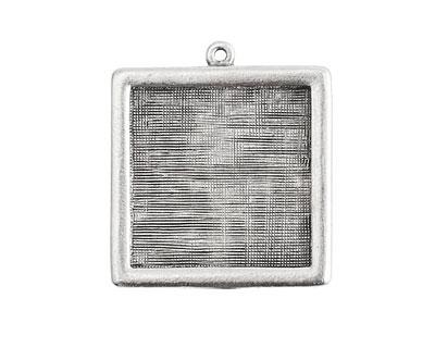 Nunn Design Antique Silver (plated) Square Framed Pendant 30mm