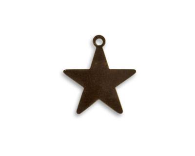 Vintaj Natural Brass Tiny Star Altered Blank 17x18mm