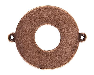 Nunn Design Antique Copper (plated) Flat Grande Circle Tag Toggle Link 38x30mm