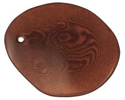 Tagua Nut Dark Brown Potato Chip 30-37x37-47mm