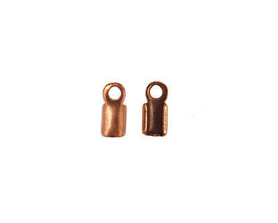 Antique Copper (plated) Foldover Cord End 9x4mm