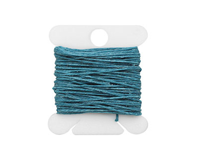 Teal Irish Waxed Linen 3 ply
