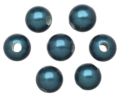 Marine Blue Shell Pearl Round (large hole) 10mm