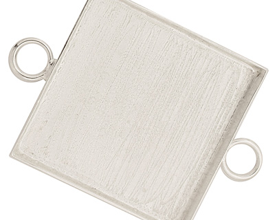 Silver (plated) Square Bezel Link 31mm