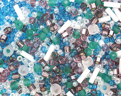 TOHO Fuji White/Green/Blue/Purple Seed Bead Mix