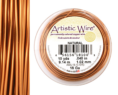 Artistic Wire Natural 18 gauge, 10 yards