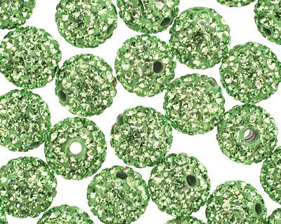 Peridot Pave (w/ Preciosa Crystals) Round 10mm