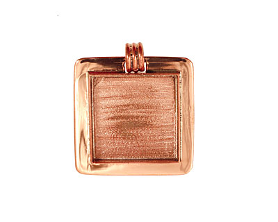 Copper Lipped Square Bezel 25mm