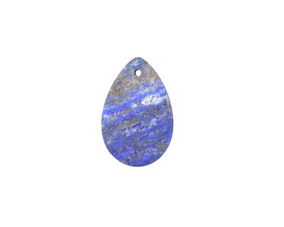 Lapis (matte) Flat Teardrop Pendant 20x30mm