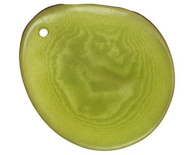 Tagua Nut Apple Potato Chip 30-37x37-47mm