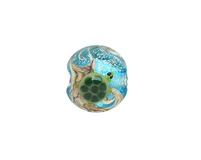 Grace Lampwork Turtle Cove Lentil 15mm