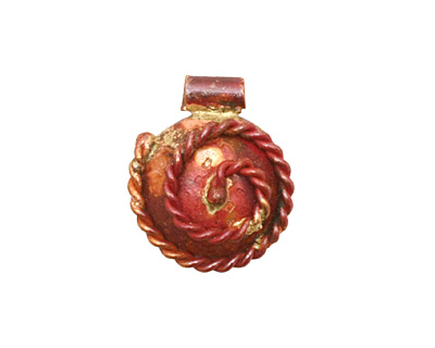Patricia Healey Copper Small Spiral Rope Pendant 18x20mm