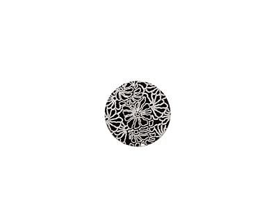 Lillypilly Black Weathered Daisy Anodized Aluminum Disc 11mm, 22 gauge
