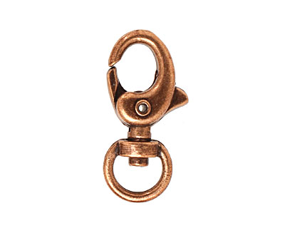Antique Copper (plated) Swivel Lobster Clasp 30x15mm