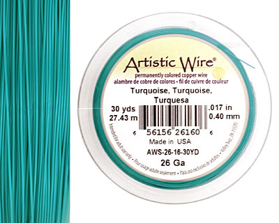 Artistic Wire Turquoise 26 gauge, 30 yards