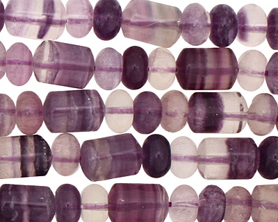 Rainbow Fluorite Barrel Rondelle 5-11x8mm