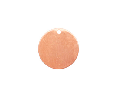 Copper Circle Blank Tag 16mm
