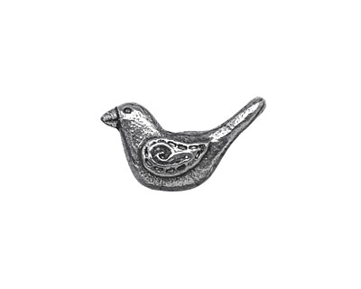Mamacita Beadworks Pewter Folk Bird 11x21mm