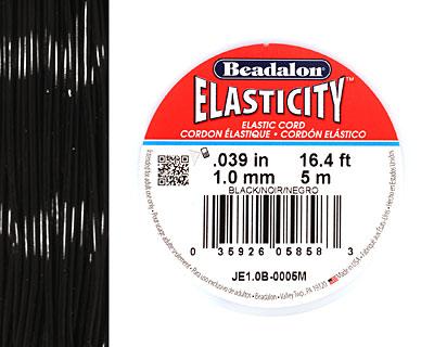 Elasticity Black 1.0mm, 5 meters