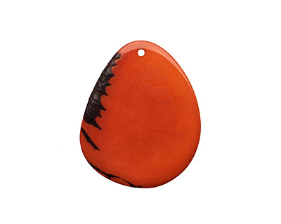 Tagua Nut Orange Potato Chip 30-37x37-47mm
