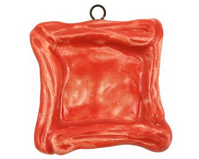 Gaea Ceramic Red Hot Square Bezel 25mm