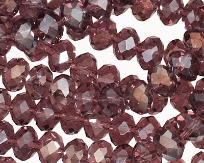 Medium Purple AB Crystal Faceted Rondelle 8mm