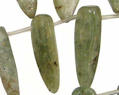 Green Kyanite Spear Drops (large) 10-14x20-50mm