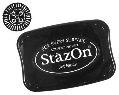 StazOn Jet Black Solvent Ink Pad