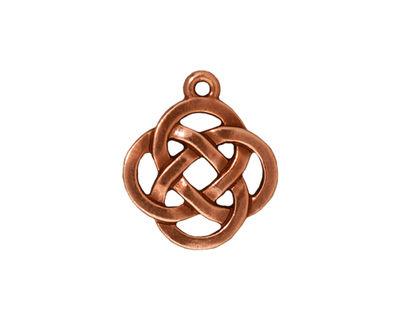 TierraCast Antique Copper (plated) Celtic Open Round Pendant 18x20mm