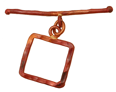 Patricia Healey Copper Square Medium Toggle Clasp 23x18mm, 46mm bar