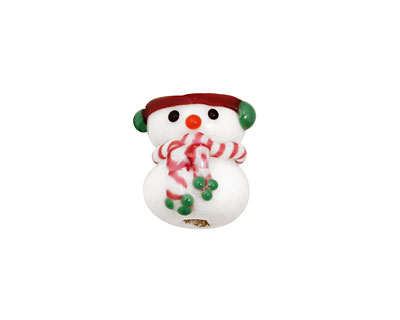 Grace Lampwork Snowman Focal 15mm
