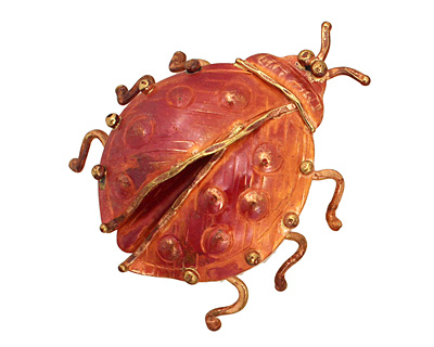 Patricia Healey Copper Lady Bug Pendant 42x47mm