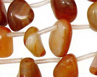 Carnelian (natural) Tumbled Nugget Drops 8-13x14-18mm