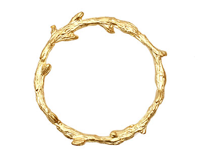 Ezel Findings Gold (plated) Colossal Wreath Link 43mm