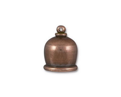 TierraCast Antique Copper (plated) Taj 10mm Cord End 17x13mm