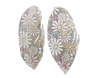 60's Pastel Daisies Printed Feathers