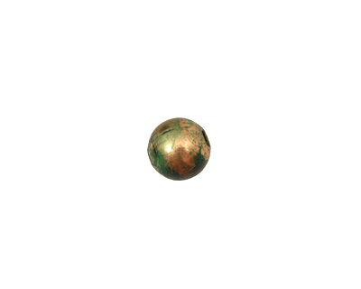 Missficklemedia Patinated Laurel Green Smooth Round 8mm