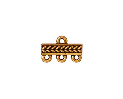 TierraCast Antique Gold (plated) Braided 3-1 Link 10x15mm
