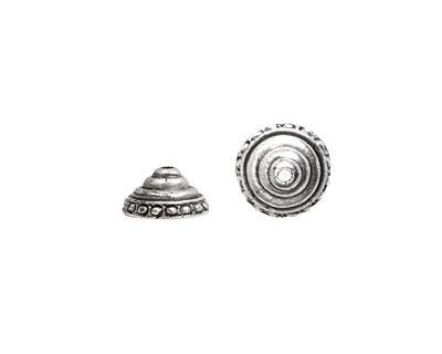 Nunn Design Antique Silver (plated) Sea Spire Bead Cap 6x11mm