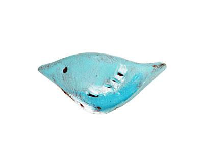 Humble Beads Polymer Clay Little Teal Bird 15-16x29-30mm