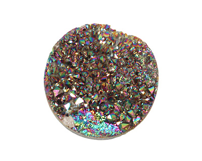 Druzy (metallic rainbow) Round Cabochon 25mm